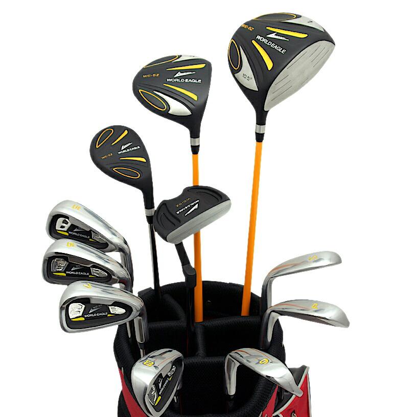 ワールドイーグル 5Z-BLACK メンズゴルフクラブ14点フルセット レッドバッグVer. 右用