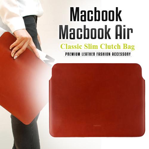 パソコン ケース【abbiNY】 PCバッグ MacBook Air対応 本革インナーケース Classic Slimデザイナーズバッグ【 マックブックエアー ケース / PCケース 】LB3867 レザー 革 スマートアビィ キャリングバッグ D1001 送料無料 10proa 4580492288675
