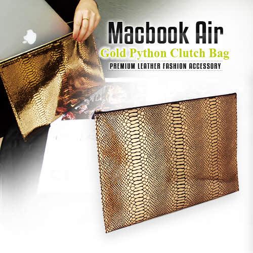 パソコン ケース【abbiNY】 PCバッグ MacBook Air対応 本革インナーケース GAZE Gold Python【 マックブックエアー ケース / PCケース 】GZ3865 レザー 革 スマートアビィ キャリングバッグ D1001 送料無料 10proa 4580492288651