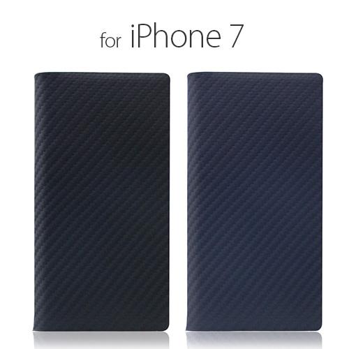 iPhone8/7手帳型 ケース カバー iPhone7 SLG Design Carbon Leather Case  ブラックSD8093i7 スマホ スマートフォン docomo au softbank本革 アイフォン セブン ポイント 送料無料 4580492330930