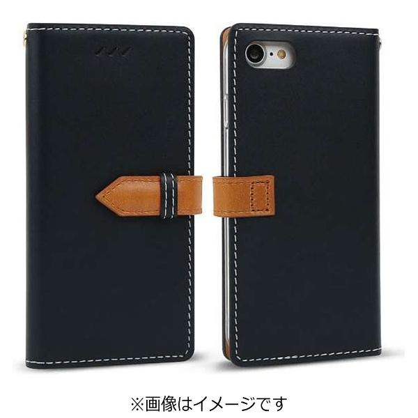 iPhone7 ケース カバーiPhone 7 手帳型ケースdocomo au softbankネイビーI7N06-16B769-15 手帳ケース ブックタイプ ダイアリー愛フォン アイフォーン apple ポイント 送料無料 10pflat 4562464717505