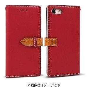 iPhone7 ケース カバーiPhone 7 手帳型ケースdocomo au softbankレッドI7N06-16B769-06 手帳ケース ブックタイプ ダイアリーアイフォン アイフォーン apple ポイント 送料無料 10pflat 4562464717499