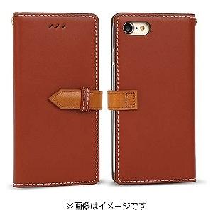 iPhone7 ケース カバーiPhone 7 手帳型ケースdocomo au softbankレッドブラウンI7N06-16B769-18 手帳ケース ブックタイプ ダイアリーアイフォン アイフォーン apple ポイント 送料無料 10pflat 4562464717482