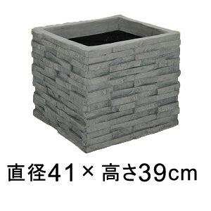 コバ積みプランター 41型 【メーカー直送・同梱不可・代引不可・返品不可】【ファイバーグラス鉢】