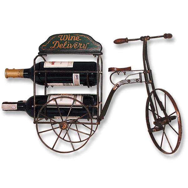 【送料無料】【メーカー直送・同梱不可・代引不可・返品不可】自転車で運ぶワインラック〔小〕 / BICYCLE with WINE HOLDER SMALL