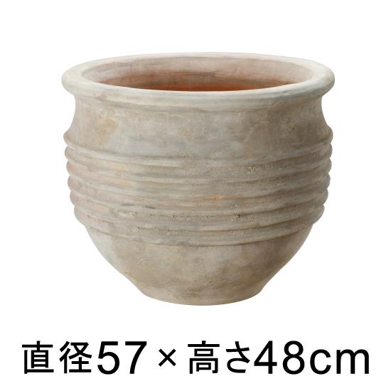 大型 おしゃれ 植木鉢 テラアストラ リゲル 57cm 【メーカー直送・同梱不可・代引不可・返品不可】【プロフェッショナル】