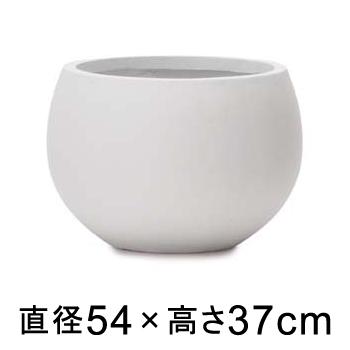 大型 おしゃれ 植木鉢 スパイラ ボウル プランター ホワイト 54cm 陶器やテラコッタより軽量なセメントプランター 【メーカー直送・日時指定不可・同梱不可・代引不可・返品不可】【プロフェッショナル】