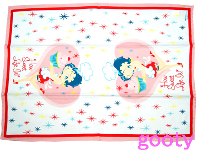 (Betty) Betty Boop tea towels TEA TOWEL Betty cooking cupcake pattern