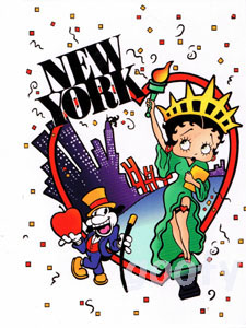 Betty Boop betty boop picture postcards cute postcards NEW YORK, NES YORK New York NY