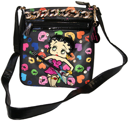 Betty Boop Shoulder Bag Diagonally Over Rich Pochette Pilot Case Skin If Patch General Enamel Your Rhinestone