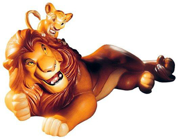 The Lion King ライオンキングSimba And Mufasa Pals ForeverWDCC 1995年 限定
