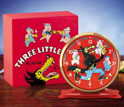 3匹の子ぶたディズニー レプリカ時計1934年 ビンテージ時計レプリカDISNEY CLASSIC REPLICA CLOCKTHREE LITTLE PIGS CLOCK