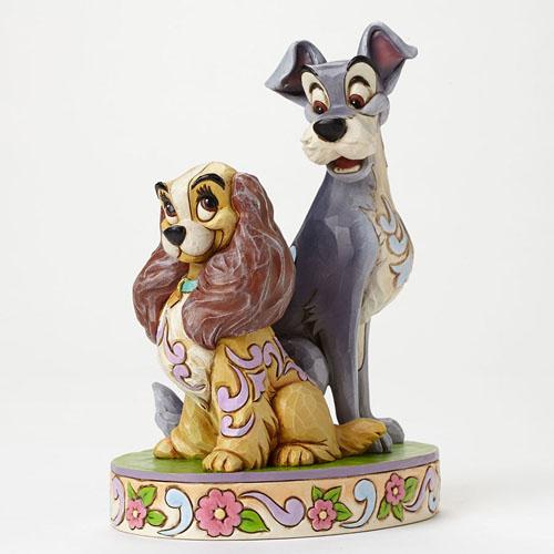 ディズニー ジム・ショアーレディ&トランプ 60周年記念!Lady & Tramp FigurineOpposites Attract 置物 フィギュア