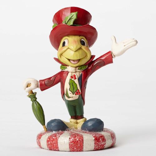 Jiminy Christmas.Disney Jim Shore Jolly Jiminy Jiminy Cricket Figurine Jiminy Cricket Figure Christmas Chirsmas Pinocchio Pinocchio Figurine Figure