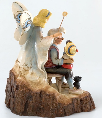 迪士尼健身房·shoapinokiojiminikuriketto Wood Carved Pinocchio Wishing Upon a Star陈设品花样滑冰