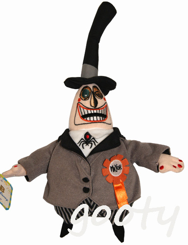 nightmare before christmas the nightmare before christmas mayor mayor rare club disney tag plush bean bag face is opposite version