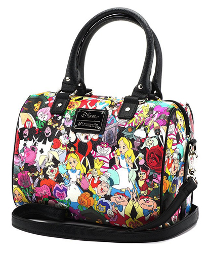 Alice In Wonderland Loungefly X Character Print Duffle Bag Duffel Boston Slant Fried Lounge All Stars Whole