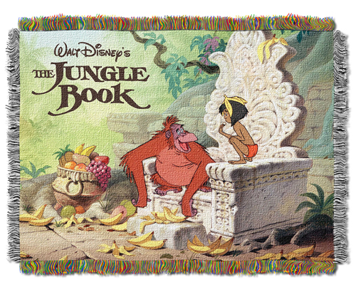 The Jungle Bookジャングルブックモーグリ キングルイ ゴブランラグラグマット タペストリータペストリーブランケットゴブランラグ レア