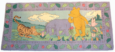 Charming Handcrafted Winnie The Pooh Classic Pooh Large Rug Mat
