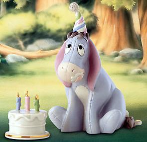 Happy birthday Winnie the Pooh Eeyore Winnie the Pooh Eeyore Lenox porcelain figurine Eeyore's Birthday Eeyore 2 piece set pottery birthday
