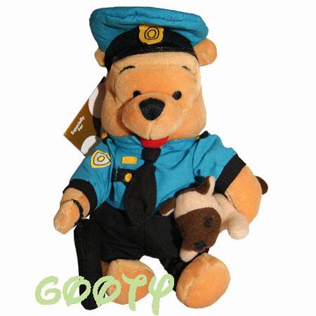 主任温妮小熊维尼,小熊维尼警察小熊维尼小熊维尼骑兵豆袋抹布