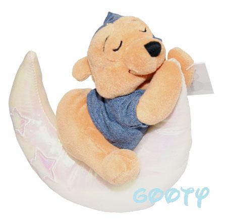 bd9e97388827 Pooh Winnie the Pooh Stars N Stripes Pooh U.K. bean bag stuffed toy is rare  Winnie-the-Pooh peacefully