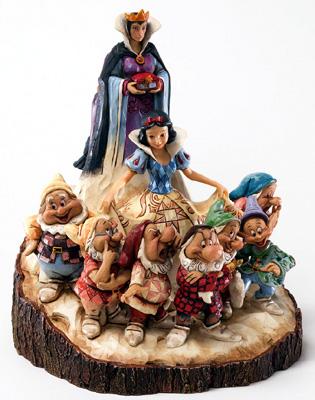 ディズニー ジム・ショアー 白雪姫 七人の小人 エヴィルクイーンWood Carved Snow WhiteThe One that Started Them All 置物 フィギュア