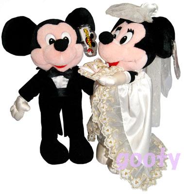 ウエディング ミッキーマウス ミニーマウスBRIDE MICKEY MINNIEミッキーマウス ミニーマウス 縫いぐるみセットアメリカより直輸入