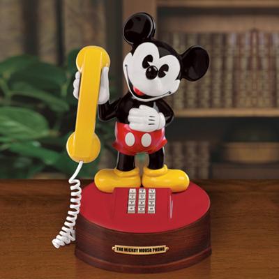 ミッキーマウス 電話型 オルゴールMICKEY MOUSE PHONE MUSICALNOSTALGIC REPRODUCTION MUSICAL1974年レプリカスタイル限定製作品