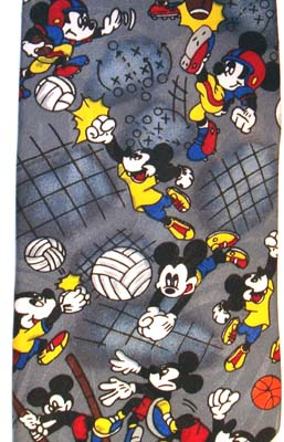 Mickey Mouse sports pattern tie is gray