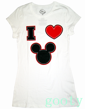 I LOVE MICKEY, Mickey Mouse mickey mouse tee short-sleeved t-shirt (PITA T) white