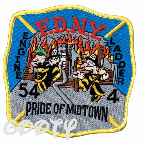 Popeye POPEYE embroidery patch applique popeyefireman FDNY New York City  Fire Department