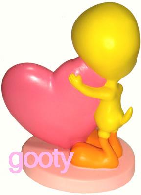 Tweety TWEETY mothersday (mother's day) PVC figure figurine heart