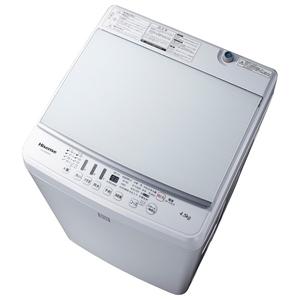 ハイセンス 全自動洗濯機 HW-G45E4KW (4.5Kg)ガラストップデザイン hisense【アウトレット品】【送料込(北海道/九州/沖縄/離島別途)】【代引き不可】