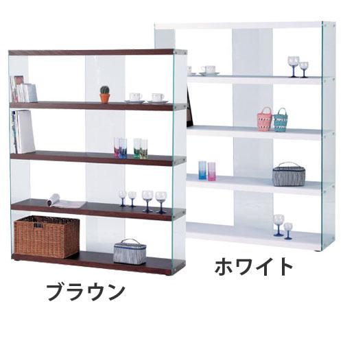 ワイドガラスシェルフ(本棚 書棚 収納 シェルフ 棚 ラック 収納ボックス 壁面収納) 送料込み おしゃれ 北欧 訳あり ギフト 送料無料