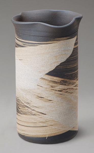 いぶし刷毛目陶器の傘立て (傘立て 傘立て おしゃれ 傘立て 陶器 アンブレラスタンド) 送料込み おしゃれ 北欧 ギフト 送料無料