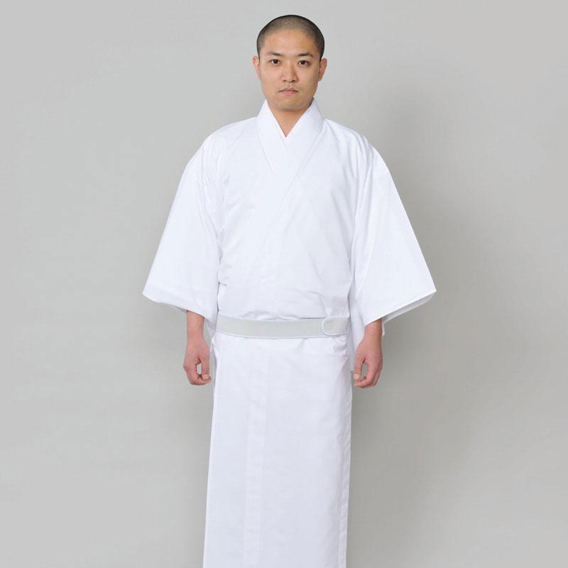 【きらめき白衣(はくい・はくえ)】(SS-4L)寺院・僧侶用の法衣・法要着物やお遍路用の巡礼着として!ポリエステル100%〔日本製〕【送料無料】