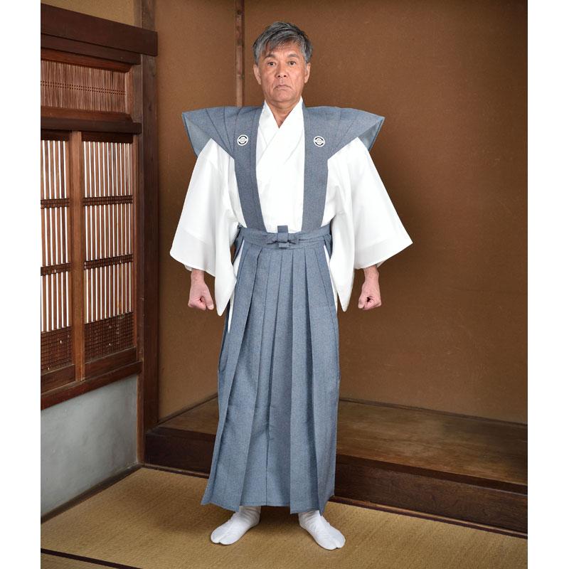 裃 かみしも ハコマチ型 紋入り メンズ 男性用 紳士 住職 寺院 寺用 大きいサイズ 日本製 M L LLサイズ [裃 (スリ紋) (M-LL)] 敬老の日 父の日 ギフト プレゼント 送料無料