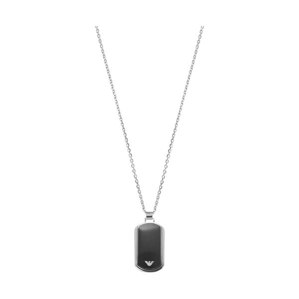エンポリオアルマーニ necklace EGS1726040 シルバー×ブラック ジュエリー EMPORIO ARMANI ネックレス メンズ