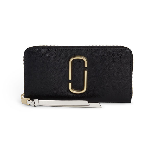 マークジェイコブス ラウンドファスナー長財布 M0014280 002/Black Multi ブラック 黒 無地 レディース スナップショット 財布 さいふ サイフ MARC JACOBS Snapshot Marc Jacobs Standard Continental Wallet