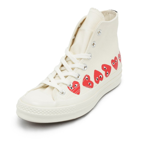COMME des GARCONS スニーカー PLAY×CONVERSE CHUCK TAYLOR ALL STAR AZ-K116 メンズ レディース OFF WHITE コムデギャルソン