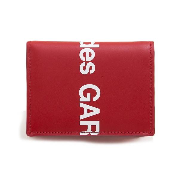 COMME des GARCONS カードケース HUGE LOGO WALLET SA0641HL ユニセックス RED コムデギャルソン