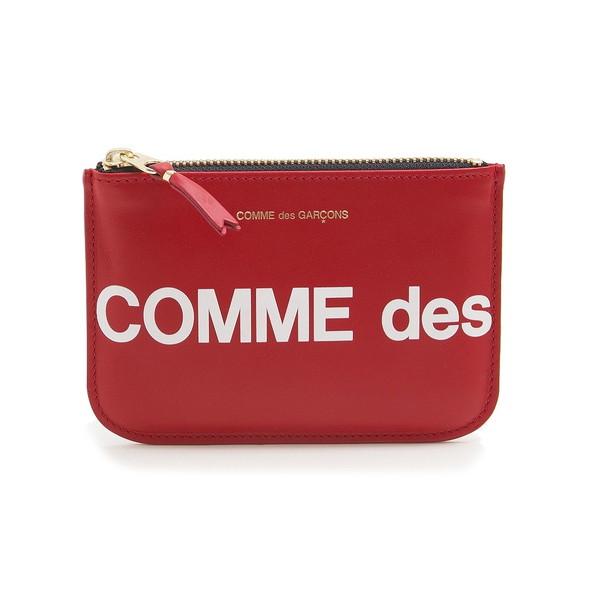 COMME des GARCONS 小銭入れ HUGE LOGO COINCASE SA8100HL ユニセックス RED コムデギャルソン