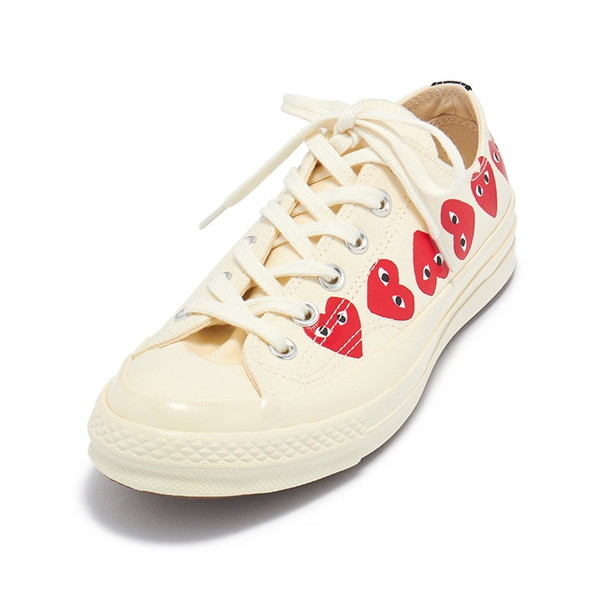 COMME des GARCONS スニーカー PLAY×CONVERSE CHUCK TAYLOR ALL STAR AZ-K117 メンズ OFF WHITE 001-2 コムデギャルソン