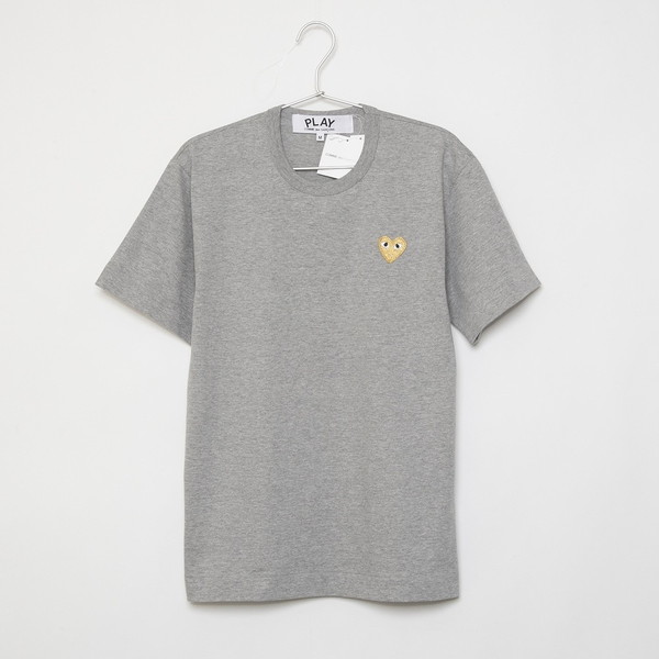 COMME des GARCONS Tシャツ PLAY GOLD HEART S/S TEE AZ-T216-051 メンズ GREY 3 コムデギャルソン