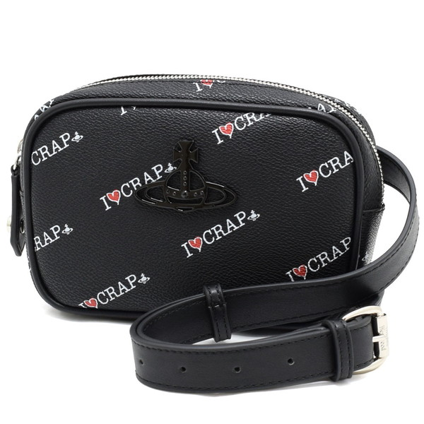 ヴィヴィアン ウエストウッド バッグ 43070016-11020-N402 BLACK BLACK レディース ボディバッグ ウエストポーチ ベルトバッグ ボディバッグ VIVIENNE WESTWOOD BAG