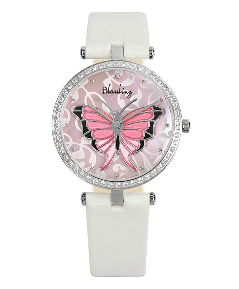 ワケあり アウトレット Blauling ブローリング レディース 腕時計 BL18-04 Le Papillon クロノグラフ ホワイト系