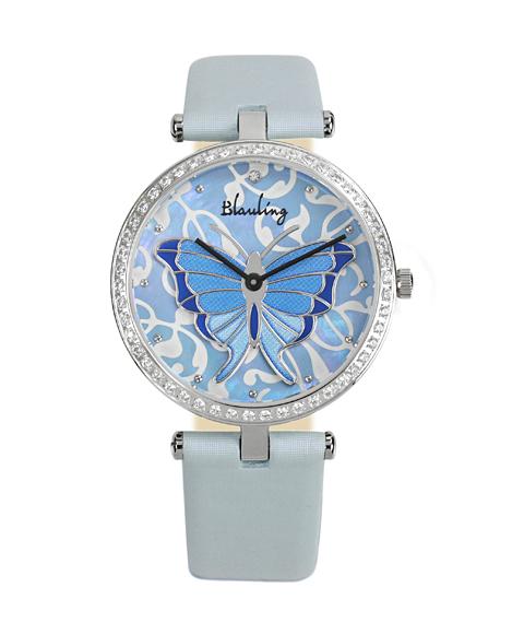 ワケあり アウトレット Blauling ブローリング レディース 腕時計 BL18-05 Le Papillon ブルー系