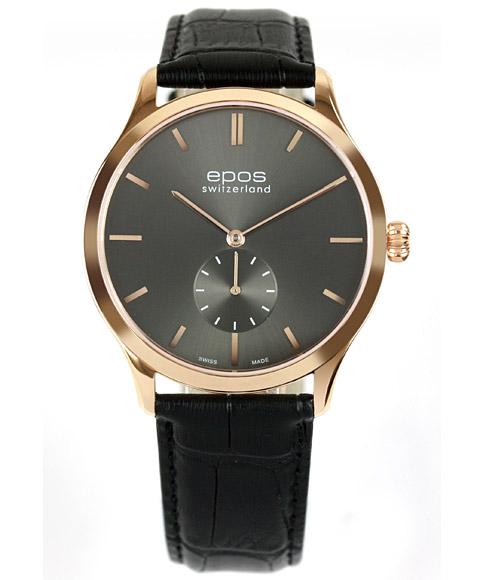 アウトレット 半額 エポス オリジナーレ 3408GPGY 手巻き 腕時計 メンズ epos Originale ゴールド レザーストラップ