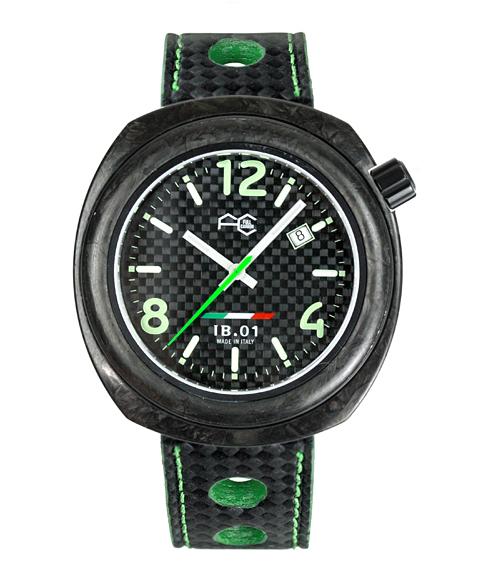 アウトレット67%OFF! フルカーボン 腕時計 IB0111-GSIB.01 自動巻 メンズ レザーストラップ FULL CARBON